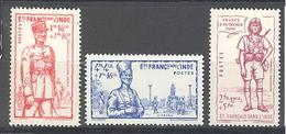 Inde: Yvert 123/125* - India (1892-1954)