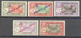 Inde: Yvert 161* + 164* + 166* + 169* + 170*; - India (1892-1954)
