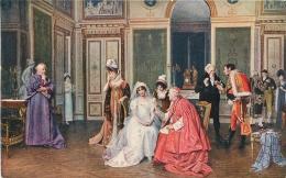 SALON DE PARIS   F.   BRUNERY LE RETARD DU FIANCE  LUXOCHROMIE - Peintures & Tableaux