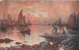 SALON DE PARIS   G.  MARONIEZ SOIR   D'ETE  LUXOCHROMIE - Peintures & Tableaux