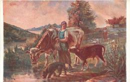 SALON DE PARIS   E.  SAMSON  ABREUVOIR  LUXOCHROMIE - Peintures & Tableaux