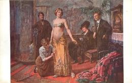 SALON DE PARIS   A.  GAUSSEN  CHEZ LE COSTUMIER SOUPLET   LUXOCHROMIE - Peintures & Tableaux
