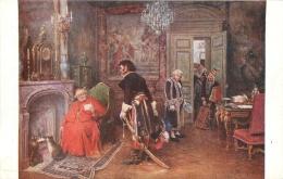 SALON DE PARIS   H.  BRISPOT LE BILLET DE LOGEMENT   LUXOCHROMIE - Peintures & Tableaux