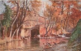 SALON DE PARIS   J.  CLAVERIE LE PARADIS DES LAVANDIERES  LUXOCHROMIE - Peintures & Tableaux
