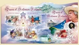 Salomon 2012, Queen Elisabeth, Mandela, Diana, 4val In BF +BF - Royalties, Royals