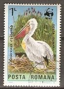 ROUMANIE    -   PELICAN   -   Oblitéré.    WWF