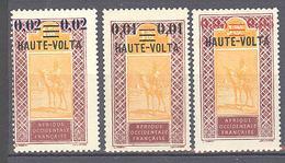 Haute Volta: Yvert N° 18/20*; - Ungebraucht