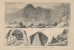 GRAVURE De 1874...PROJET DE CHEMIN DE FER DE NAPLES AU VESUVE - Prints & Engravings