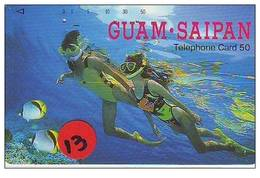 Telecarte De Japan La Guam Et Saipan Reliée (13) - Guam