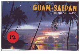 Telecarte De Japan La Guam - Saipan Reliée (12) - Guam