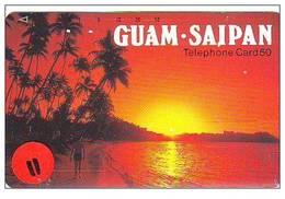 Telecarte De Japan La Guam - Saipan Reliée (11) - Guam