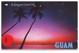 Telecarte De Japon La Guam Reliée (1) Phonecard Japan - Guam