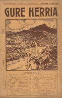 * GURE HERRIA * 09-10/1934 < Donibaneko Predikua // Orreaga // Petits Chevaux Basques //etc.... - Pays Basque