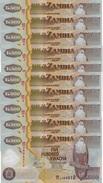 ZAMBIA 500 KWACHA 2011 P-43h UNC 10 PCS  [ZM145h] - Zambia