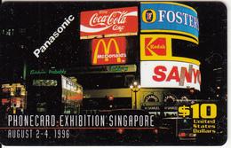 USA - Phonecard Exhibition Singapore, GEM Prepaid Card $10, Tirage 1000, Exp.date 12/96, Mint - Sonstige