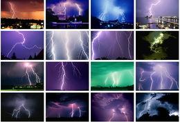 16 Postcards Of  Lighting  , Postkarte Carte Postale - Astronomie