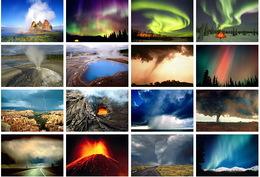 16 Postcards Of   Landscape Nature Force  , Postkarte Carte Postale - Astronomie