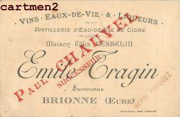 BRIONNE EMILE TRAGIN DISTILLERIE EAU DE VIE CIDRE PUBLICITE MAISON FELIX CESSELIN 27 EURE - France