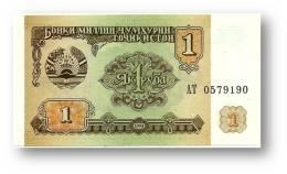 TAJIKISTAN - 1 Ruble - 1994 - Pick 1 - UNC - Serie  AT ( AT ) - The National Bank Of The Republic - Tajikistan