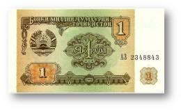 TAJIKISTAN - 1 Ruble - 1994 - Pick 1 - UNC - Serie  AZ ( АЗ ) - The National Bank Of The Republic - Tayikistán