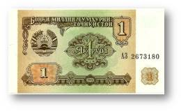 TAJIKISTAN - 1 Ruble - 1994 - Pick 1 - UNC - Serie  AZ ( АЗ ) - The National Bank Of The Republic - Tadschikistan