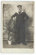 CPA Photographie - MARIN EN UNIFORME, En Partance Vers Dardanelles - Charlemagne Inscrit Sur Beret - Ecrite Bizerte 1915 - Fotografia