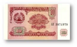 TAJIKISTAN - 10 Rubles - 1994 - Pick 3 - UNC - Serie  AK ( AK ) - The National Bank Of The Republic - Tajikistan