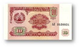 TAJIKISTAN - 10 Rubles - 1994 - Pick 3 - UNC - Serie  AL ( АЛ ) - The National Bank Of The Republic - Tajikistan
