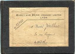 Carnet De Comptes De ''Barclays Bank Lyon France - Banque & Assurance