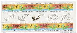 Christmas Island 2000 Year Of Dragon Gutter - Christmas Island