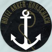 Étiquette De L'Hôtel Anker (Rorschach - Suisse) - Hotel Labels
