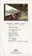 Menu Du Restaurant Stadtkeller Lucerne (Suisse) - Image De Chapel Bridge (Daté Du 5-8 56) - Menus
