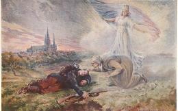 SALON DE PARIS  L. BOUCHER LA DERNIERE PENSEE  LUXOCHROMIE - Peintures & Tableaux
