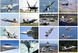 32 Postcards Of  F-22 Raptor Stealthfighter Fight Planes, Postkarte Carte Postale - Avions