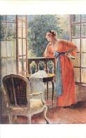 SALON DE PARIS  E.  GELHAY L'ATTENTE  LUXOCHROMIE - Peintures & Tableaux