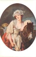 SALON DE PARIS  J.B.  GREUZE   LA LAITIERE  LUXOCHROMIE - Peintures & Tableaux