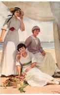 SALON DE PARIS P.  DUPUY LES TROIS SOEURS  LUXOCHROMIE - Peintures & Tableaux