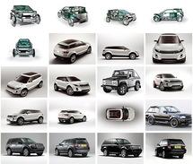 20 Postcards Of  Land Rover Car Cars, Postkarte Carte Postale - Voitures De Tourisme