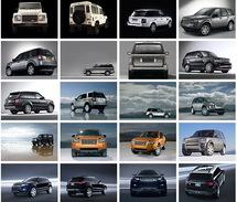 100 Postcards Of  Land Rover Car Cars, Postkarte Carte Postale - Voitures De Tourisme