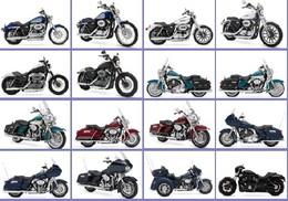 48 Postcards Of HARLEY MotorCycle  Motorbike, Postkarte Carte Postale - Motos