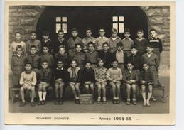 Photo Paris XVIII Souvenir Scolaire Annee 1954 55  COURS COMPLEMENTAIRE RUE ANTOINETE  Classe De 6 Em B   Format 18x13 - Persone Identificate
