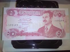 IRAQ SADAM 5 DINARS 1992 P-80 RARE BANKNOTE LOC#A1533 - Irak