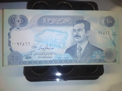 IRAQ SADDAM 100 DINARS 1994 P-84 RARE BANKNOTE LOC#A1536 - Irak