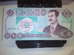 IRAQ SADDAM 10 DINARS 1992 P-81 RARE BANKNOTE LOC#A1537 - Irak