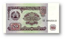 TAJIKISTAN - 20 Rubles - 1994 - Pick 4 - UNC - Serie  AA ( AA ) - The National Bank Of The Republic - Tadjikistan