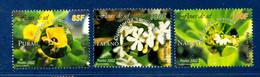 - Etat : **  Polynésie Française  3 Timbres Fleurs De Sel   YT 677,678,679     P 1417 - Végétaux