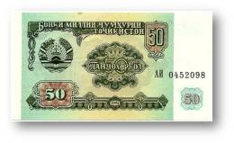 TAJIKISTAN - 50 Rubles - 1994 - Pick 5 - UNC - Serie  AI ( АИ ) - The National Bank Of The Republic - Tajikistan