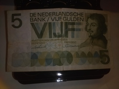 NETHERLANDS 1966 5 GUILDEN P-90 CURRENCY RARE BANKNOTE LOC#A1549 - 5 Gulden