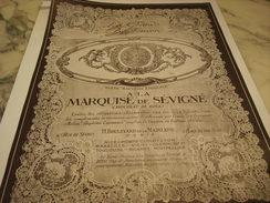 PUBLICITE CHOCOLAT LA MARQUISE DE SEVIGNE BAPTEME 1925 - Posters
