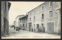 GREZOLLES Rue Principale Hôtel Du Midi D'Auvergne (Charpenet) Loire (42) - France